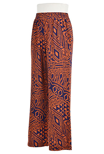 #eShakti wide printed pants suitable for an outdoor concert