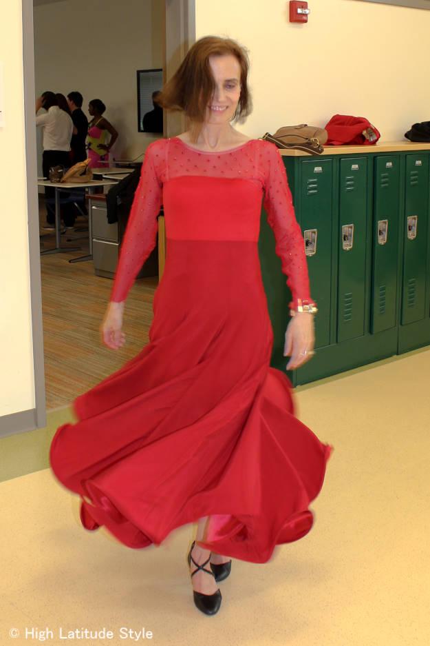 ballroom dance dress in motion