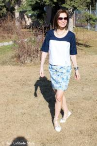 #over40 #over50 boxy top with pencil skirt | High Latitude Style | http://www.highlatitudestyle.com