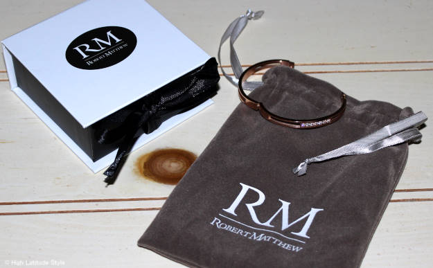 #RobertMatthew Rose Gold Madison Bangle with knuckle joint