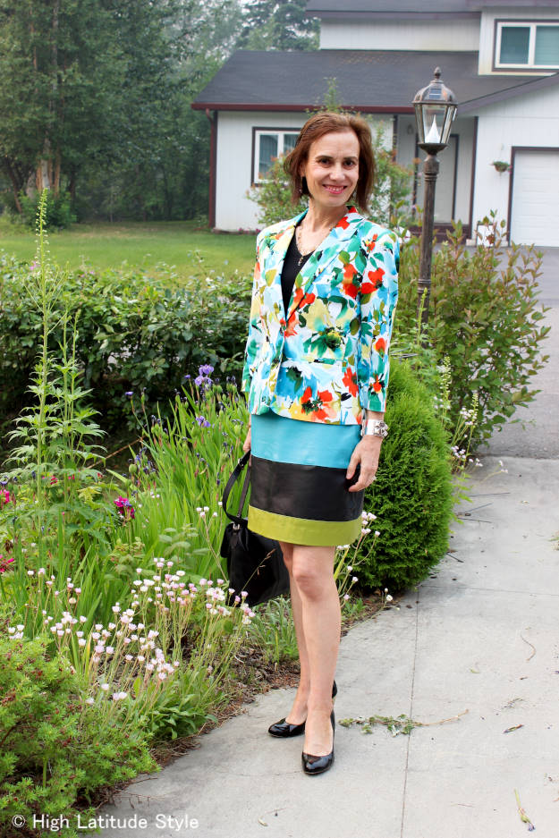#over40fashion Floral blazer prior to dyeing