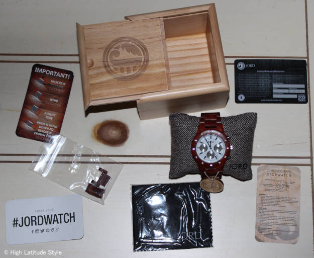 #JORDWATCH wooden Jord stop watch chronograph with instructions