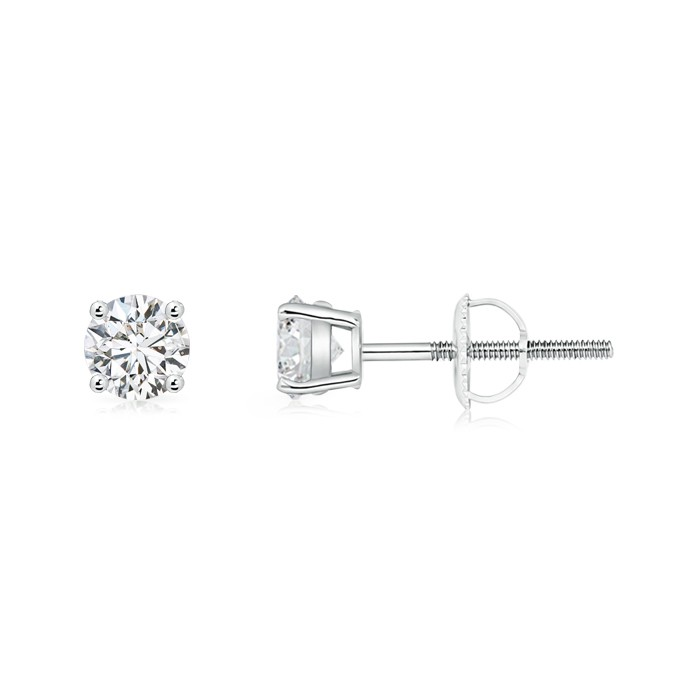#Angara classic Princess diamond basket studs