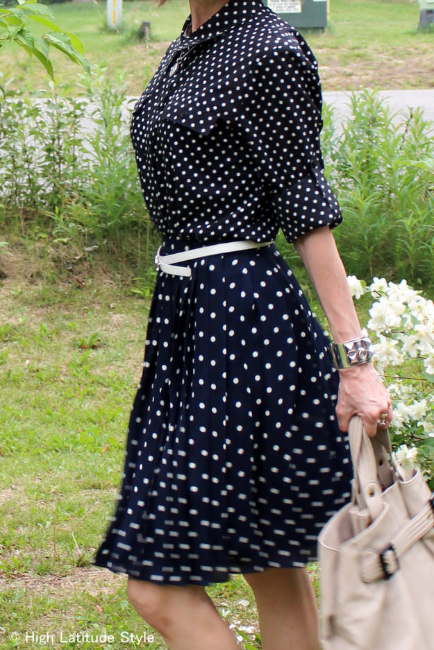 #mixingPrints details of polka dot meets polka dot work outfit | High Latitude Style | http://www.highlatitudestyle.com
