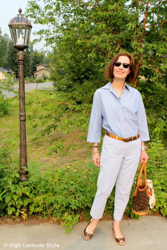 #over40fashion #over50fashion menswear summer outfit for work | High Latitude Style | http://www.highlatitudestyle.com