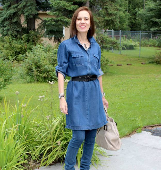 #AlmoJewellery #fashionover40 #fashionover50 Looking ageless in theexample dress over pants of the 70s trend in Ageless Style a Wednesday series @ High Latitude Style @ http://www.highlatitudestyle.com