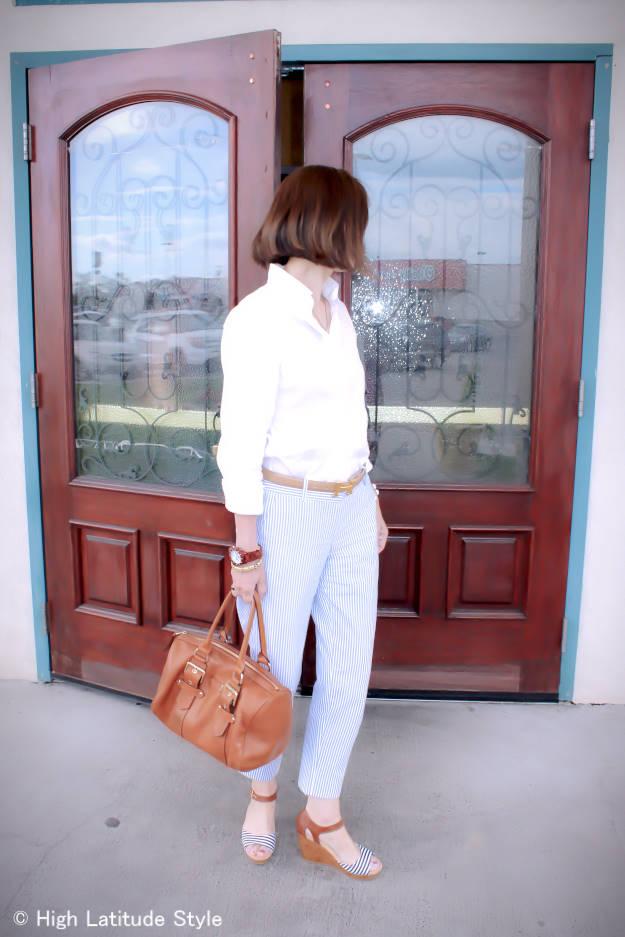 #fashionover40 #fashionover50 summer office look | High Latitude Style | http://www.highlatitudestyle.com