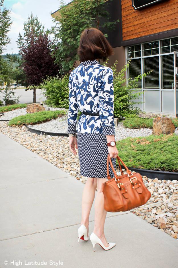 #fashionover40 #fashionover50 blue and white trend | High Latitude Style | http://www.highlatitudestyle.com