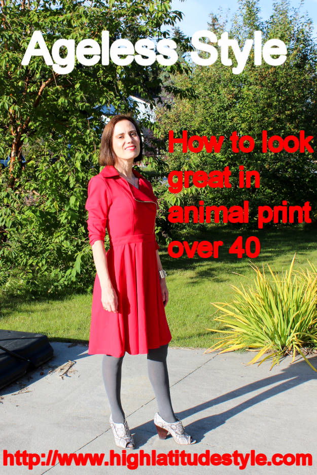 #fashionover40 #fashionover50 How to look great in Animal Print Over 40 post banner
