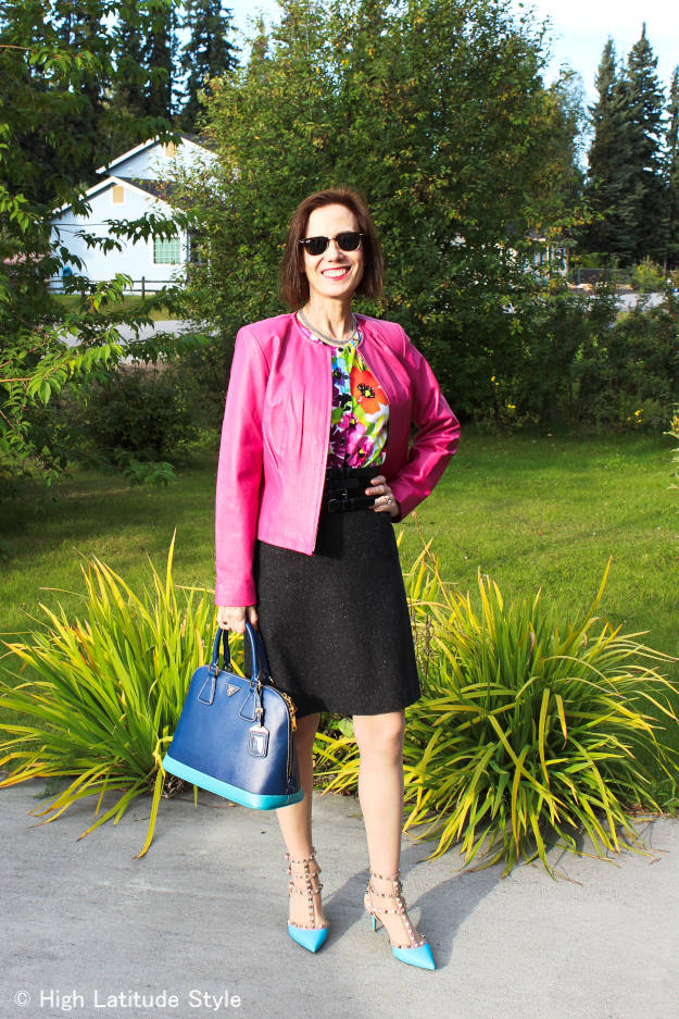 #fashionover40 #fashionover50 colorfull fall work outfit | High Latitude Style | http://www.highlatitudestyle.com