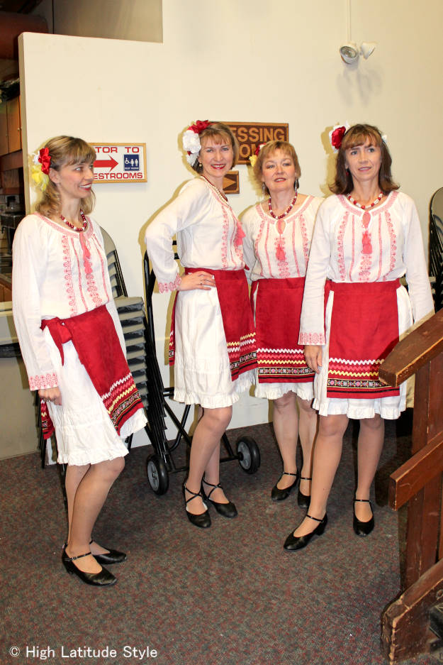 #fashionover40 Russian dance outfits at Fairbanks International Friendship Day