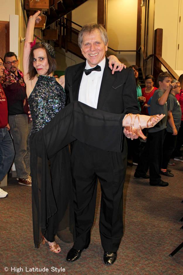 Fairbanks couple in dance clothing