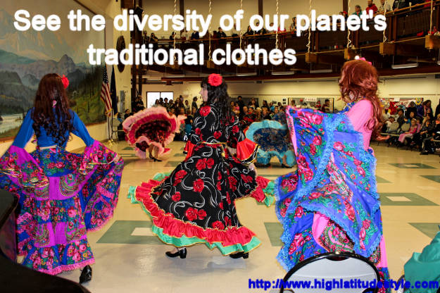 #fashionover40 #fashionover50 dance Read about international traditional clothes featured at Fairbanks International Friendship Day @ High Latitude Style @ http://www.highlatitudestyle.com