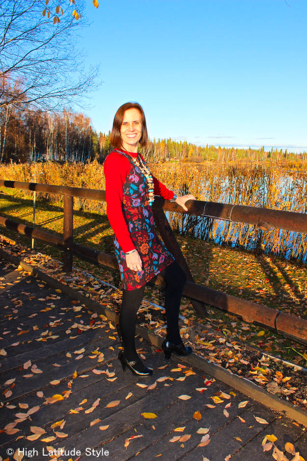 #fallstyle blogger wearing summer items in fall