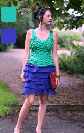 Example of analogous colors for skirt and top - Guest post by Lorna Mai (2015) @ High Latitude Style @ http://www.highlatitudestyle.com
