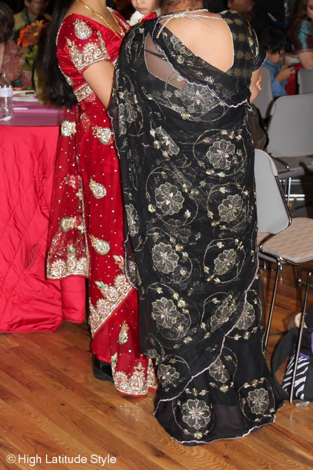 Beautifully embellished saris at Diwali in Fairbanks