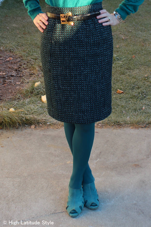 How I created a cool fake skirt suit look