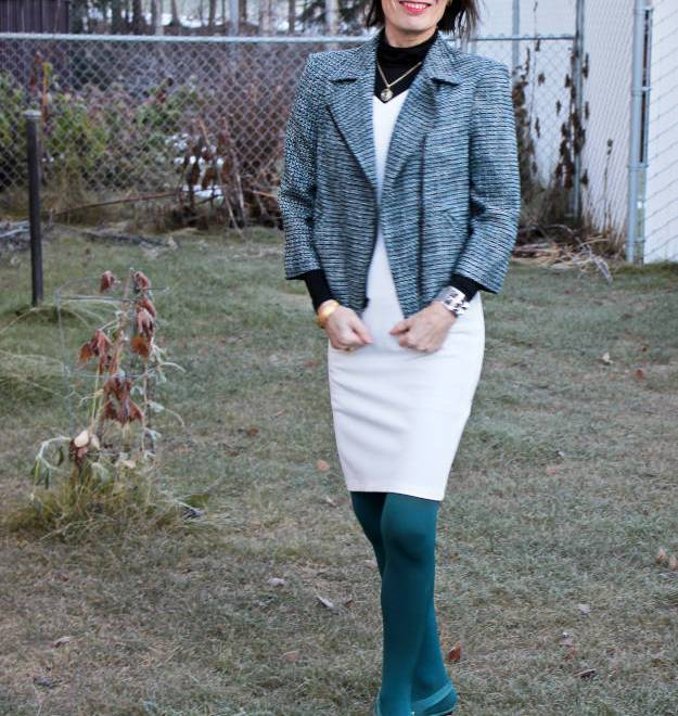 #fashionover40 #fashionover50 #Adea #LookbookStore styling a summer dress for fall @ High Latitude Style @ http://www.highlatitudestyle.com