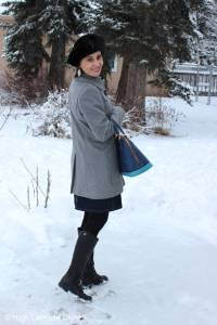 #fashionover40 Styling a gray and blue work look and giveaway @ High Latitude Style @ http://www.highlatitudestyle.com