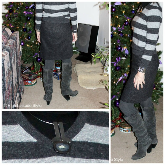 details of slouchy boots