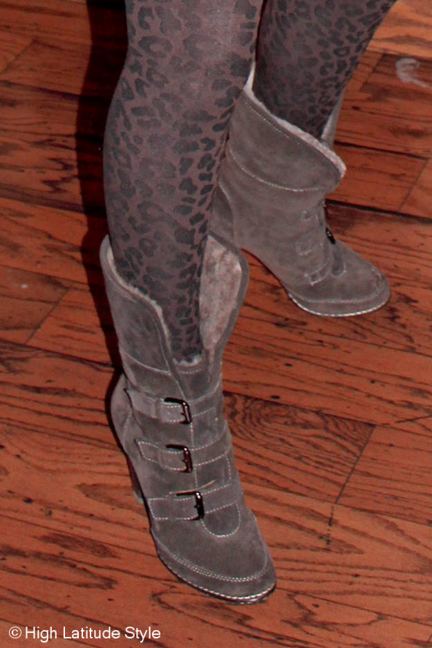 #fashionover50 Söfft shearling buckle up booties
