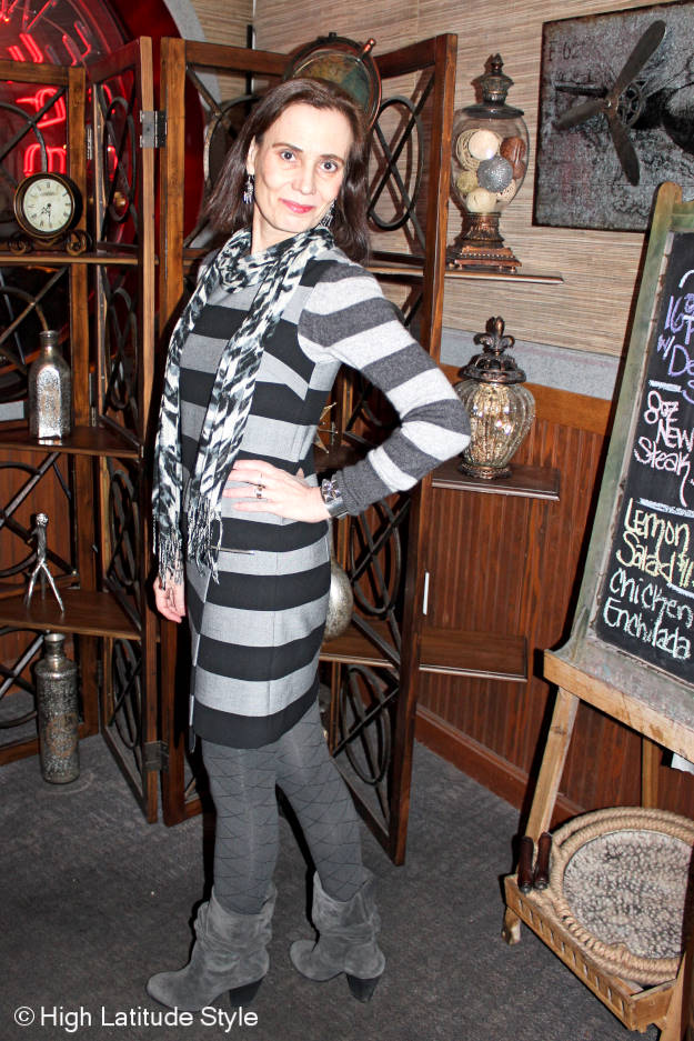 styleover40 all gray winter office look
