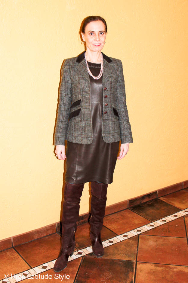 fashion blogger over 50 in St. Patrick's Day outfit