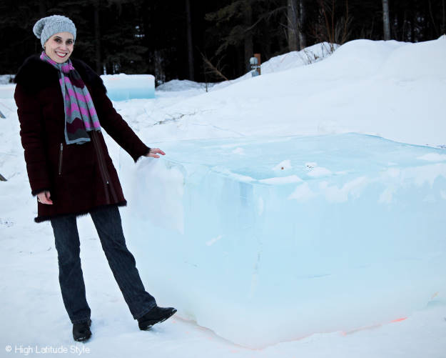 #Alaskatravel ice sculpture raw material - a giant ice cube more