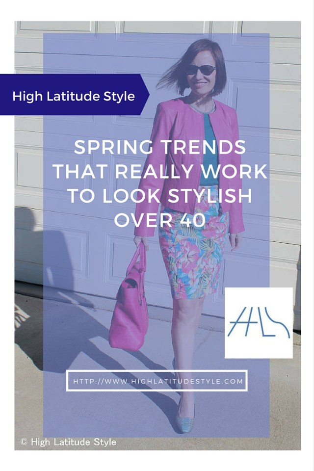 #trendsover40 Spring trends that work for mature women