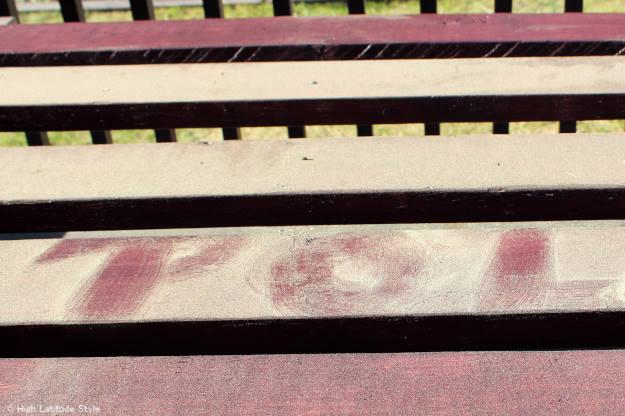 pollen deposited on a deck