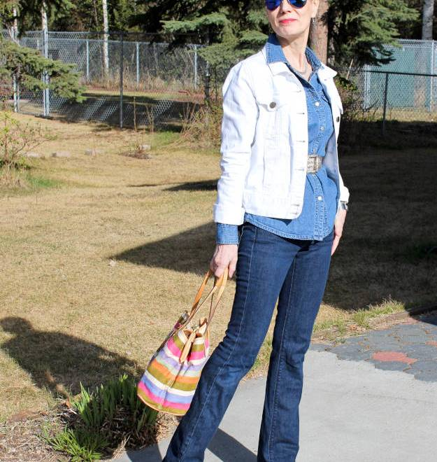 #maturefashion Canadian tuxedo What to wear when traveling Alaska @ http://www.highlatitudestyle.com
