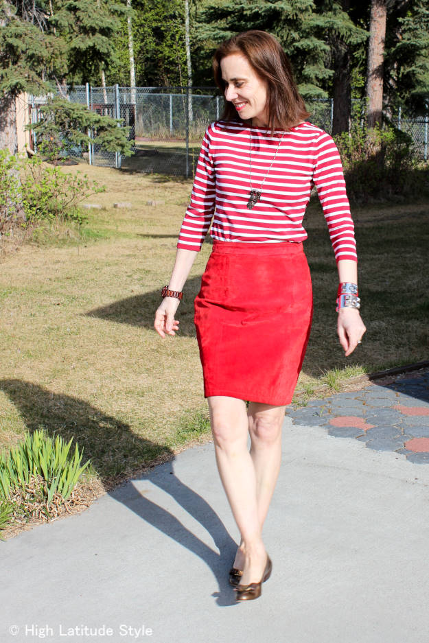#maturestyle French woman inspired work outfit