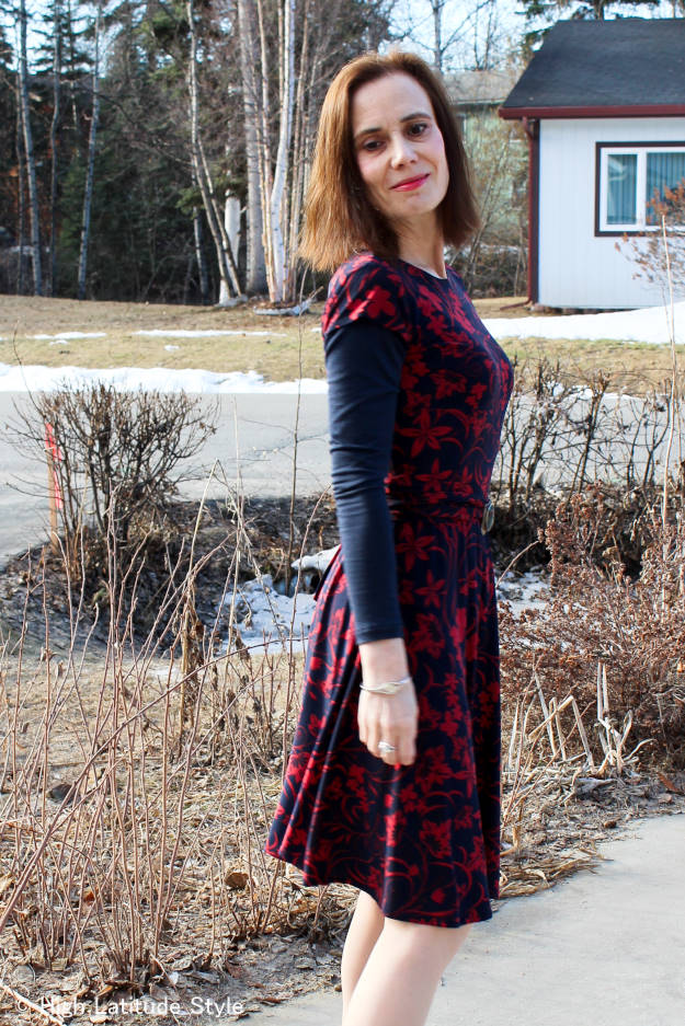 #maturefashion work outfit with summer dress @ High Latitude Style