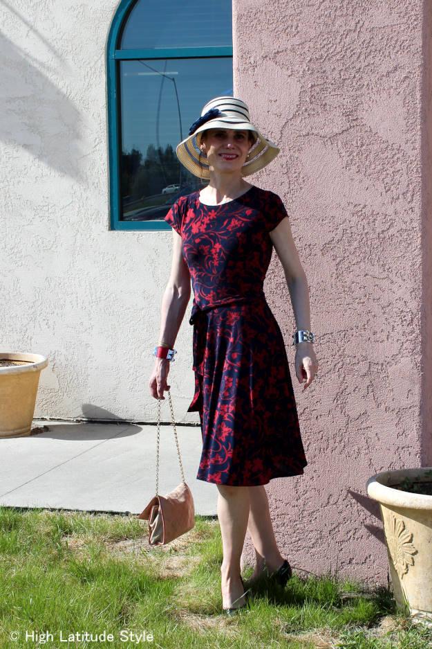 #maturefashion Karina dress styled for the weekend