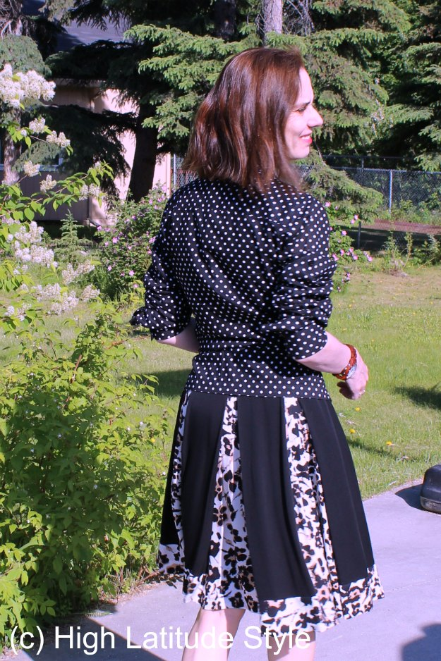 #midlifestyle woman wearing a dress as skirt
