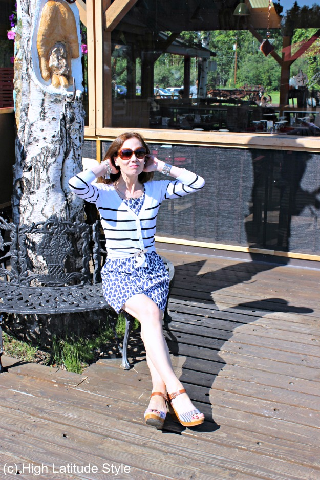 #fashionover40 #TopOfTheWorldStyleLinkup outfit at the fashion linkup party