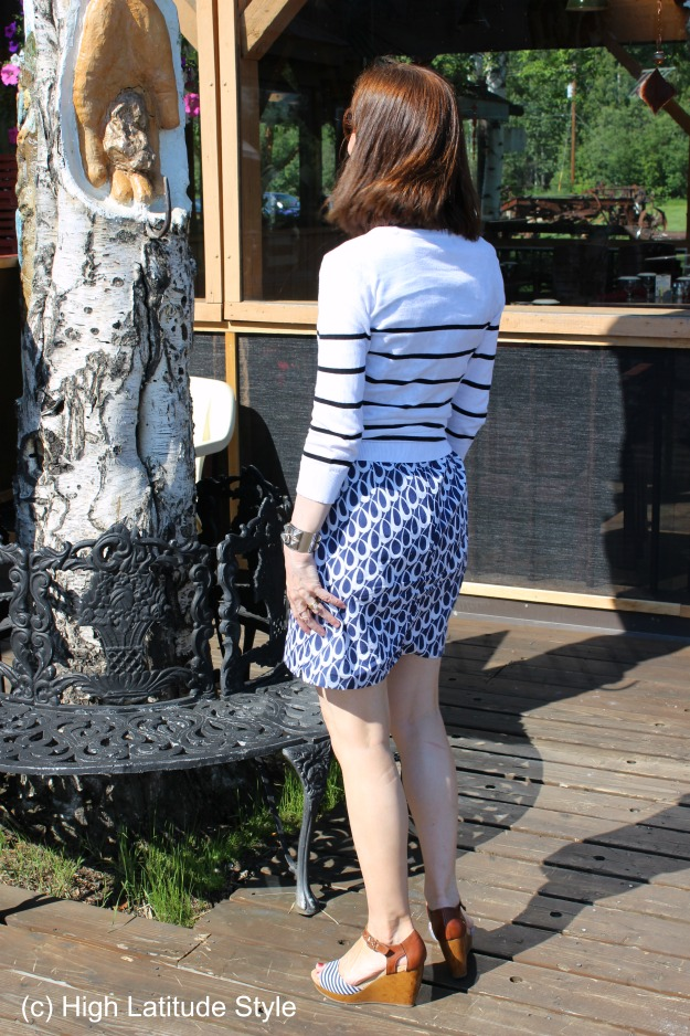 #styleover40 mature women in summer dress