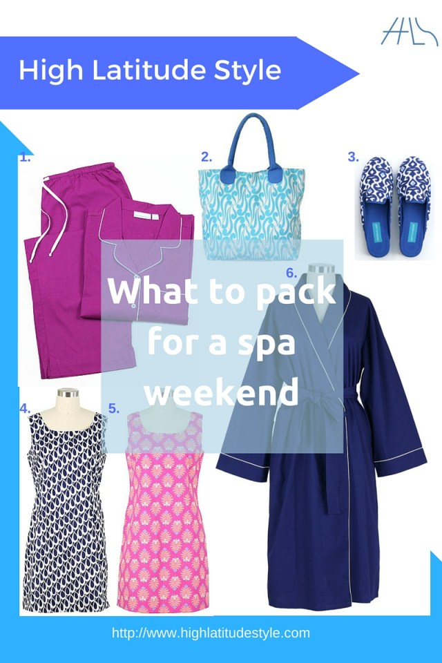 #AgelessStyle What to pack for a spa weekend