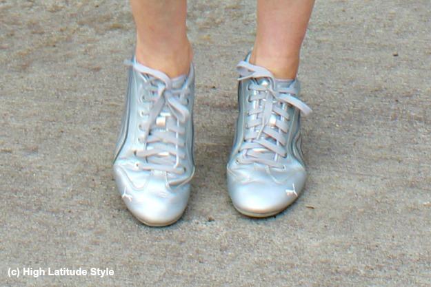 normcore silver Puma sneakers