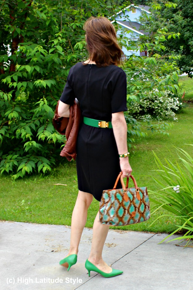 #fashionover50 woman in a work outfit