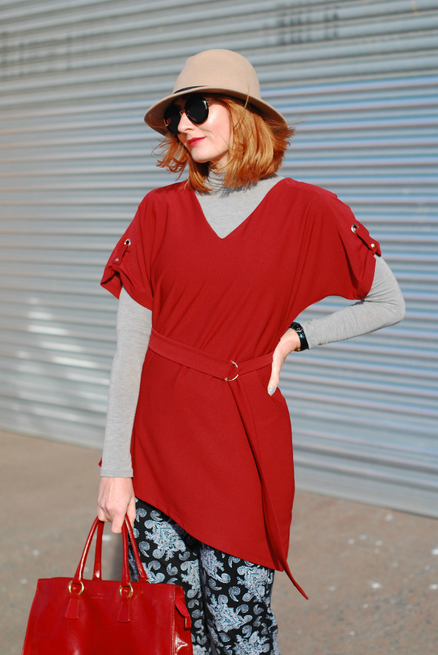 #redhead Catherine Summers wearing red
