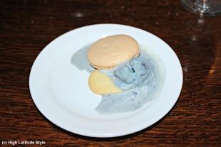 #food purple potato ice cream with cookies