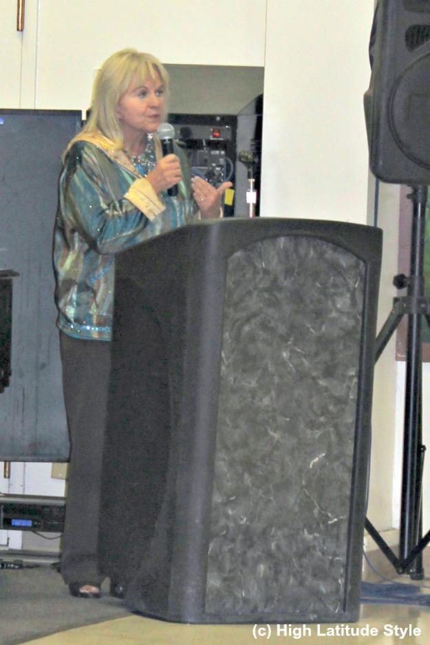 Alaska's First Lady in an Alaska parka