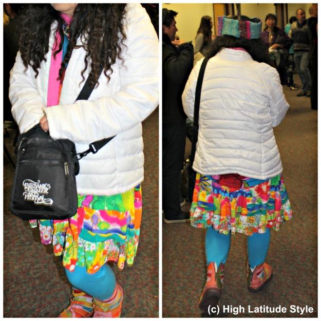 #FairbanksStreetstyle mature woman wearing streetstyle
