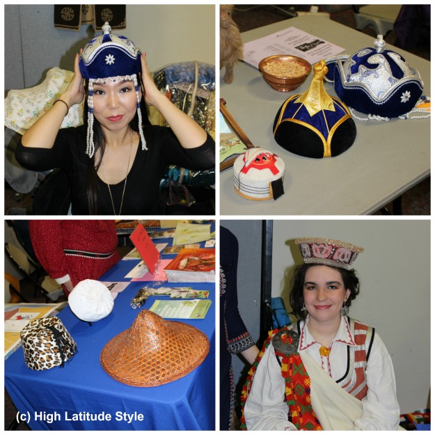hats from various countries