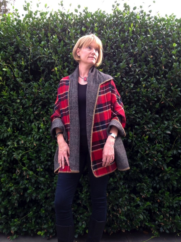 Top of the World OOTD Readers' Fav Andrea in a two sided poncho