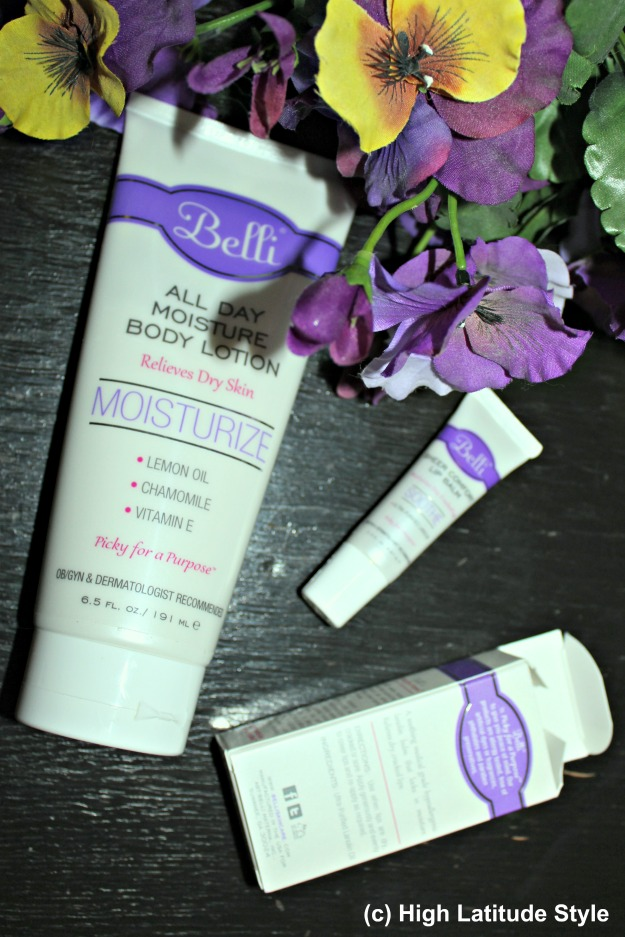 #beautyover40 Belli all day body lotion and lip balm