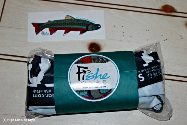 #FiSheWear #fashionover40 label and merchandise of Fishe Wear and Alaska company specializing in women outdoor clothing