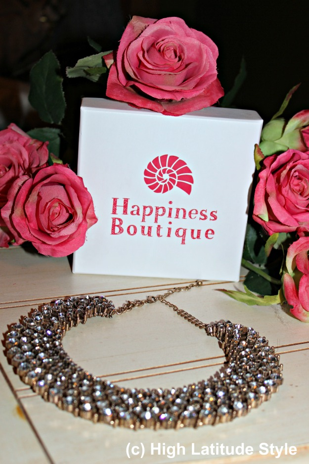 Happiness Boutique statement necklace and gift box