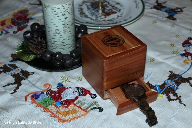#woodwatch Frankie dark sandalwood and smoke wood watch and cedar presentation box